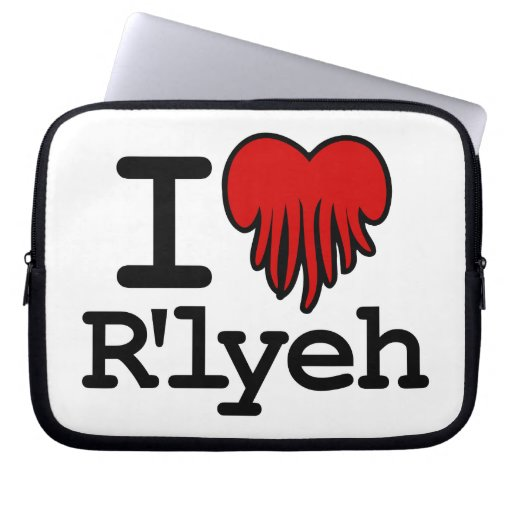 I Heart R'lyeh Laptop Sleeve