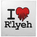 I Heart R'lyeh Printed Napkins