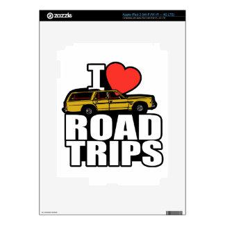 I Heart Road Trips iPad 3 Decal