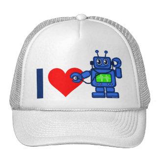 I heart robot trucker hat