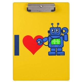 I heart robot, robot listen to heart clipboard