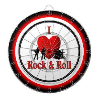 I Heart Rock and Roll Regulation Dart Board