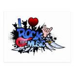 I Heart Rock Music Post Card