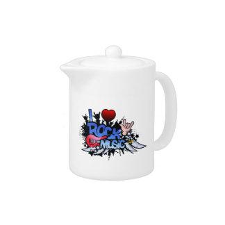 I Heart Rock Music Teapot