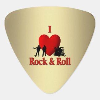 I Heart Rock & Roll Guitar Pick