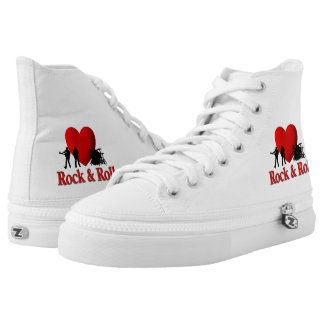 I Heart Rock & Roll High-Top Sneakers