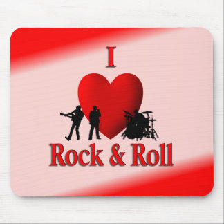 I Heart Rock & Roll Mouse Pad