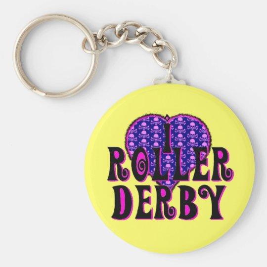 I heart roller derby keychain