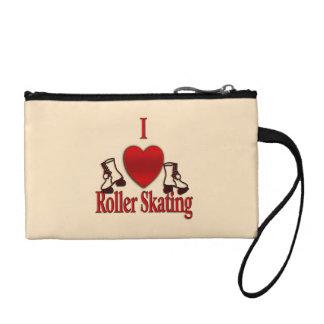 I Heart Roller Skating Change Purse