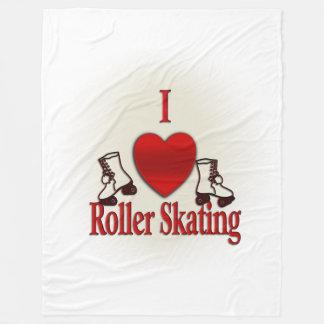 I Heart Roller Skating Fleece Blanket