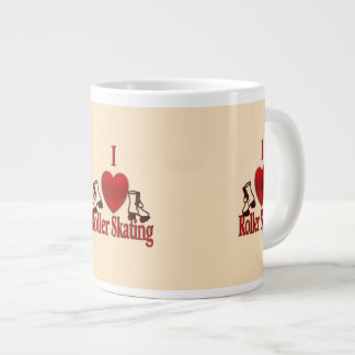 I Heart Roller Skating Giant Coffee Mug