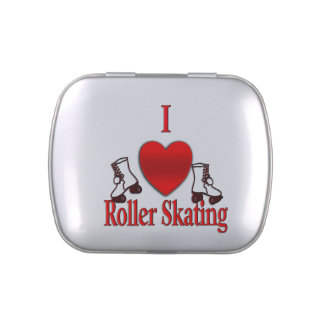 I Heart Roller Skating Jelly Belly Candy Tins