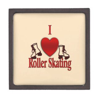I Heart Roller Skating Jewelry Box