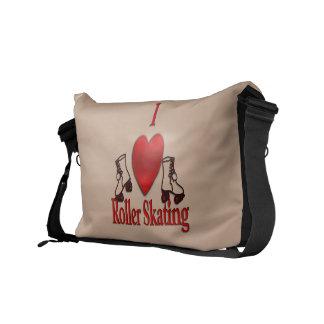 I Heart Roller Skating Messenger Bags
