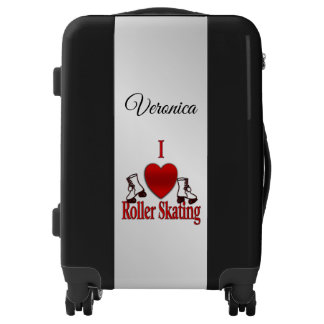 I Heart Roller Skating Personalized Luggage
