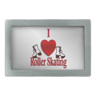 I Heart Roller Skating Rectangular Belt Buckle
