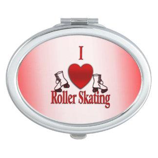 I Heart Roller Skating Vanity Mirror