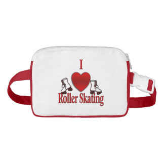 I Heart Roller Skating Waist Bag
