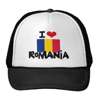 I HEART ROMANIA TRUCKER HATS