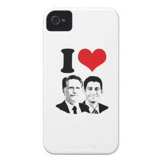I HEART ROMNEY RYAN -.png iPhone 4 Case-Mate Cases