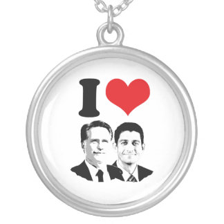 I HEART ROMNEY RYAN -.png Necklaces