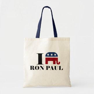 I heart Ron Paul Tote Bags