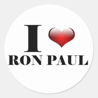 I heart Ron Paul Classic Round Sticker