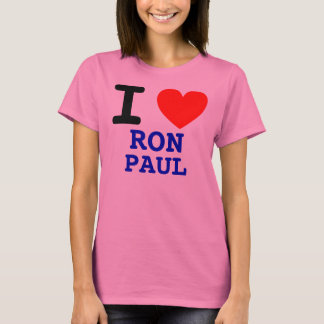 I HEART RON PAUL Ladies Long Sleeve Shirt