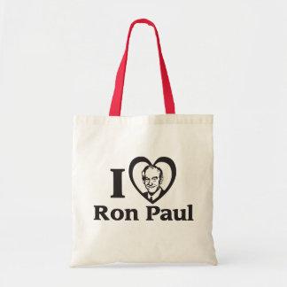I HEART RON PAUL TOTE BAG