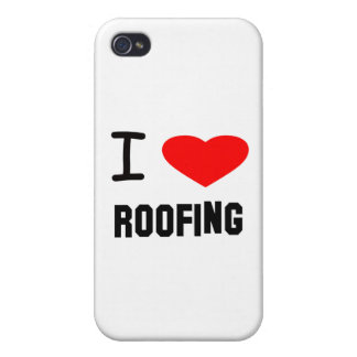 I Heart roofing iPhone 4 Case