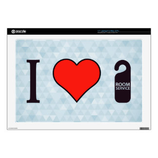 "I Heart Room Service Skin For 17"" Laptop"