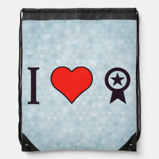 I Heart Rooting For The Law Drawstring Backpack