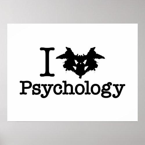 I Heart (Rorschach Inkblot) Psychology Poster