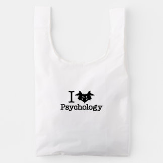 I Heart (Rorschach Inkblot) Psychology Reusable Bag