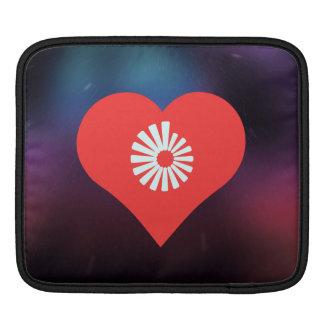 I Heart Rotating Vectors Icon iPad Sleeve