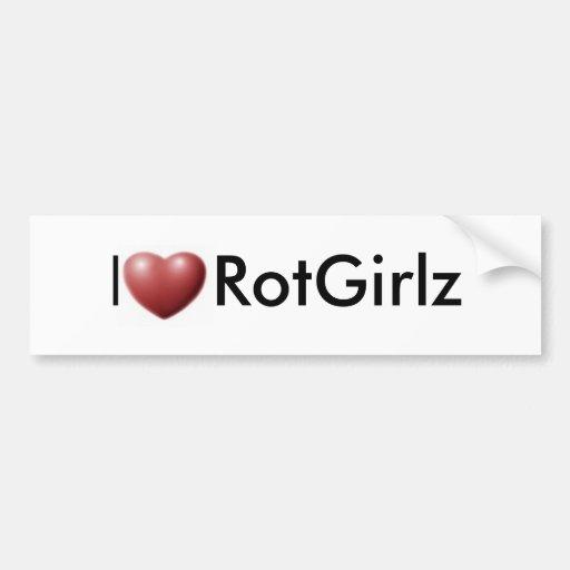 I Heart RotGirlz Bumper Sticker
