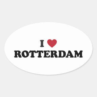 I Heart Rotterdam Netherlands Oval Sticker