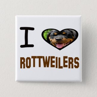 I heart Rottweilers Button