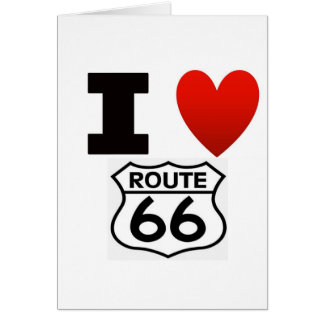 I Heart route 66 Card