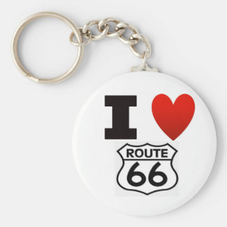 I Heart route 66 Keychain