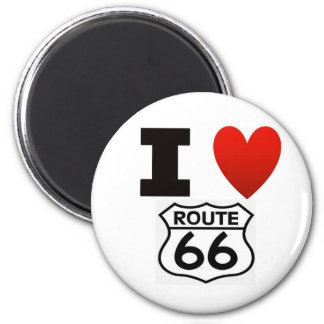 I Heart route 66 Magnet