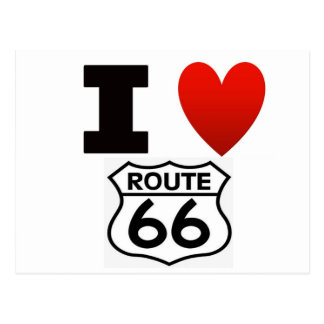 I Heart route 66 Postcard
