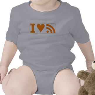 I Heart RSS Baby Bodysuit