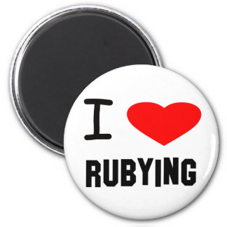 I Heart rubying 2 Inch Round Magnet