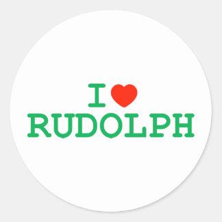 I Heart Rudolph Classic Round Sticker