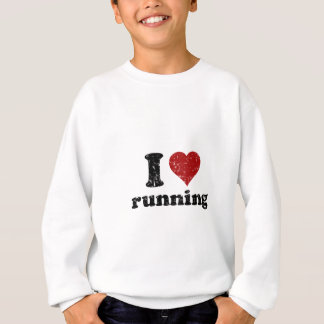 I heart running sweatshirt
