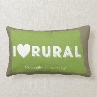 I Heart Rural - North Dakota outline pillow