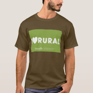 I Heart Rural - North Dakota outline T-shirt