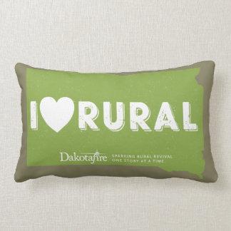 I Heart Rural - South Dakota outline pillow