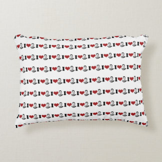 I Heart Ruth Bader Ginsburg Portrait Accent Pillow